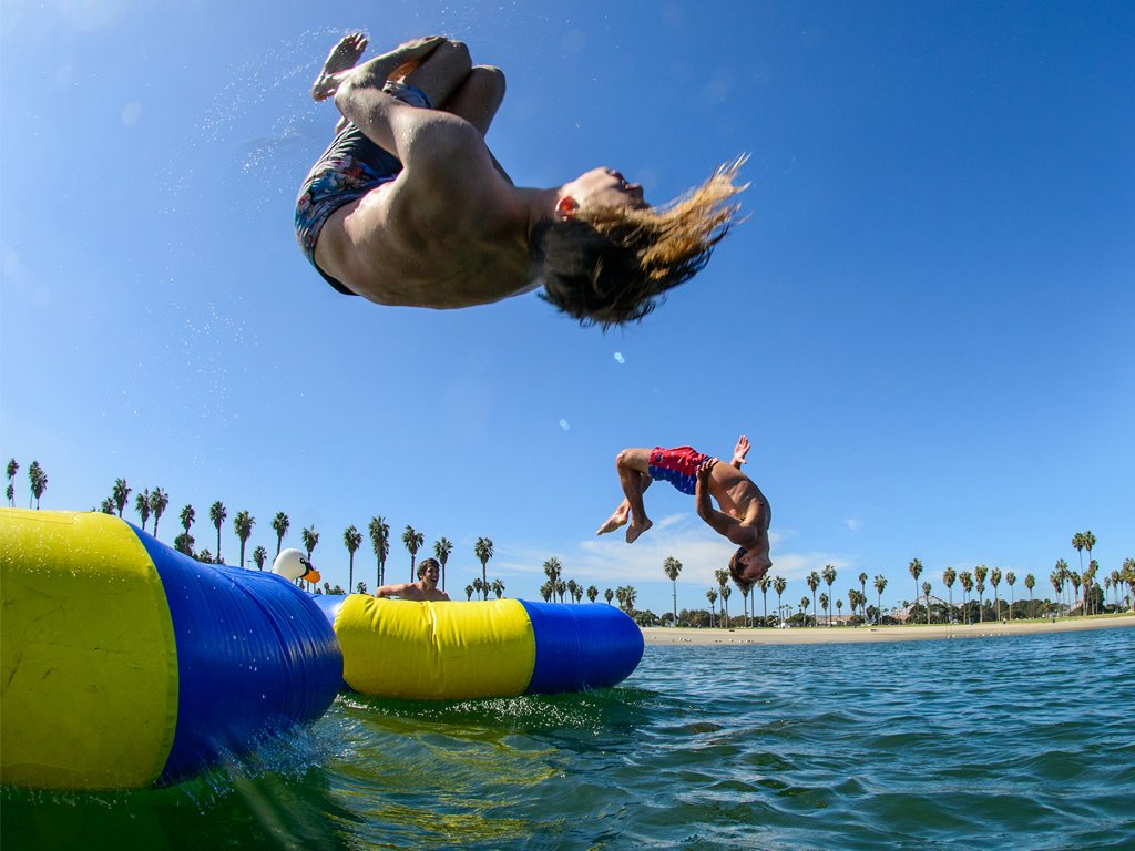 Explore Mission Bay Park for activities on and off water.