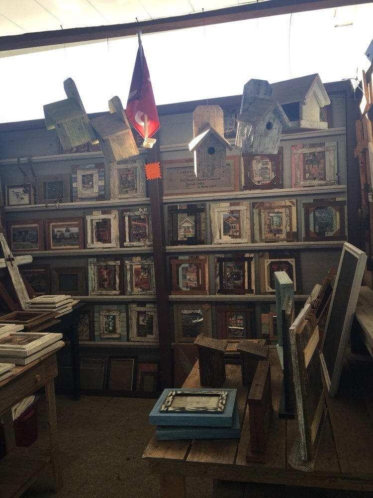 hand made birdhouses and picture frames