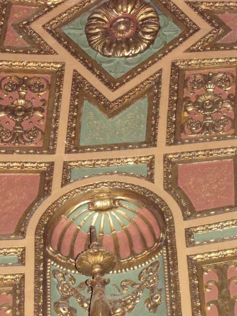 Details up close of stunning theatrea ceiling