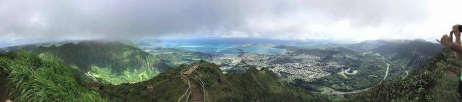 Top of Haiku Stairs facing windward