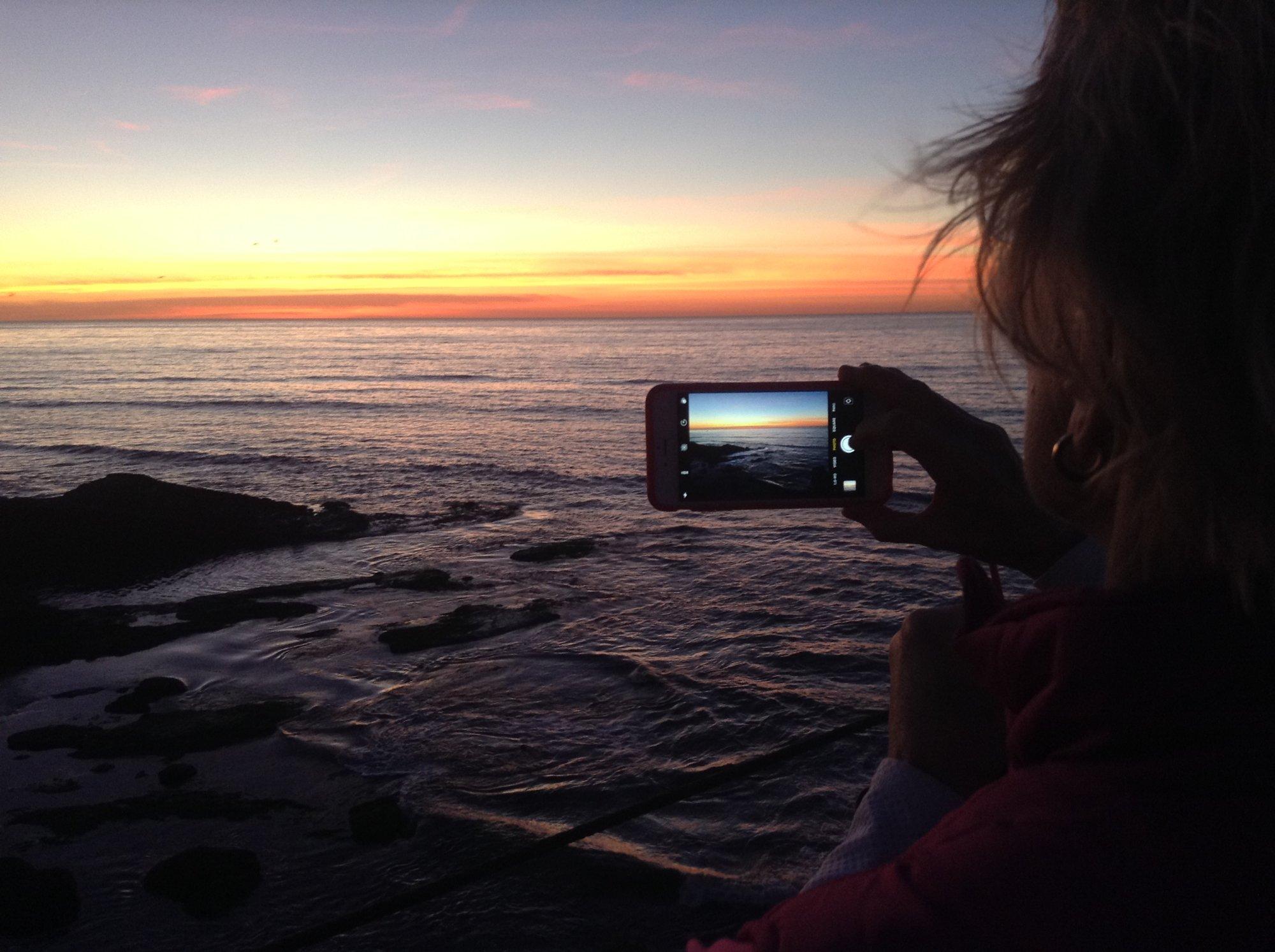 looking toward Japanesesunrise, at Sunset Cliffs Nature Park