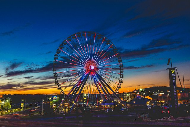 Branson Ferris Wheel at Night