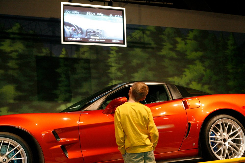 Kids of all ages get dreamy-eyed at the National Corvette Museum.
