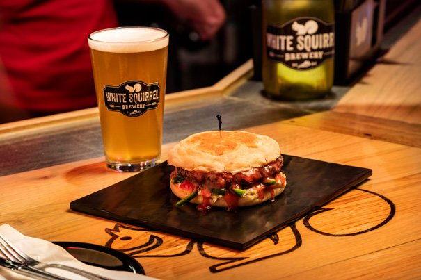 Indulge in locally-crafted beer and culinary creations at White Squirrel Brewery.