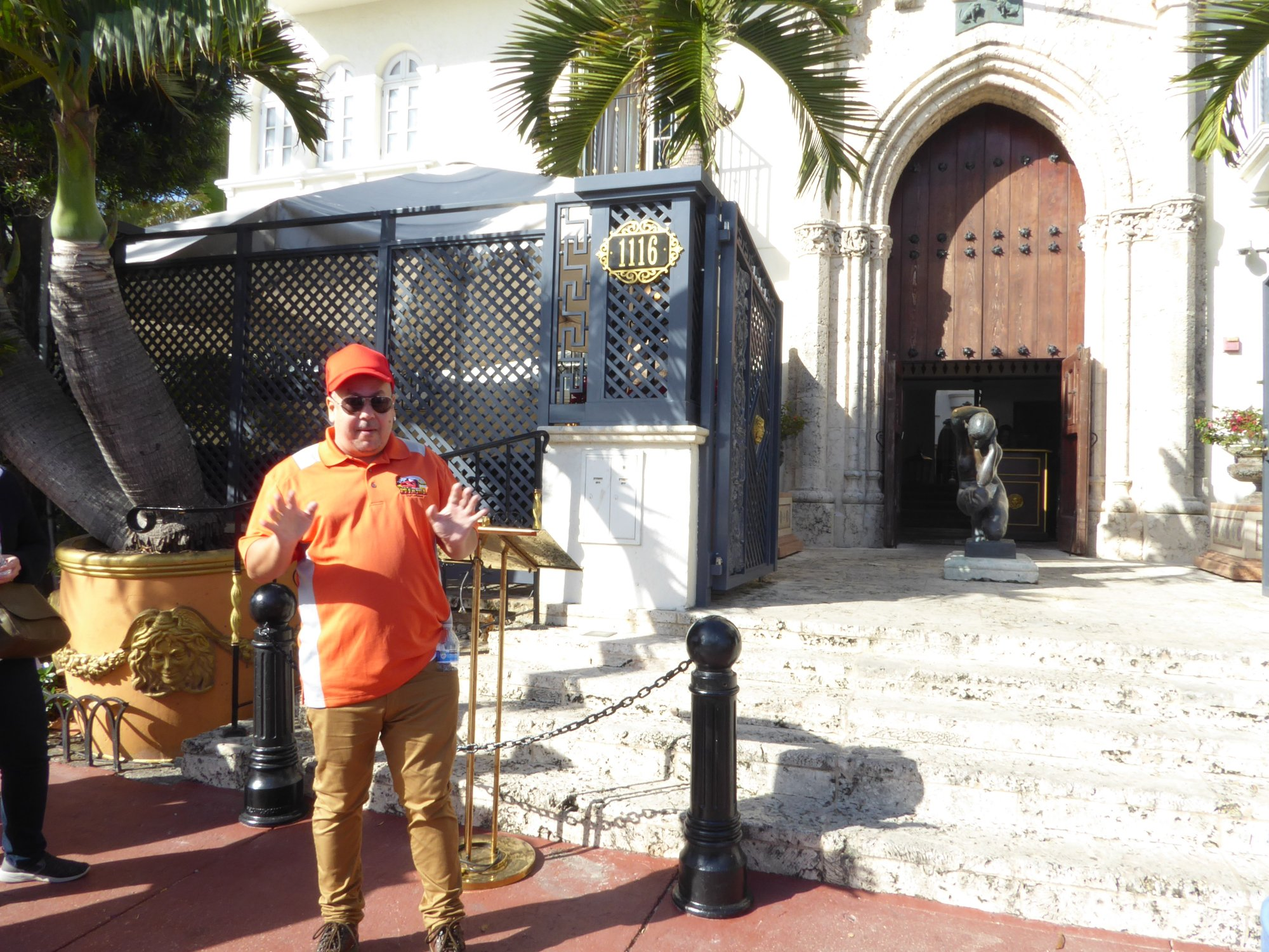 Tour stop at the Versace mansion