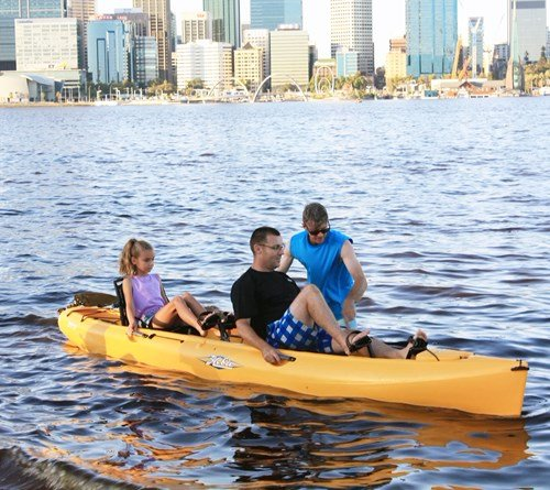 Pedal Powered Kayaks - Father and Daughter Swan River