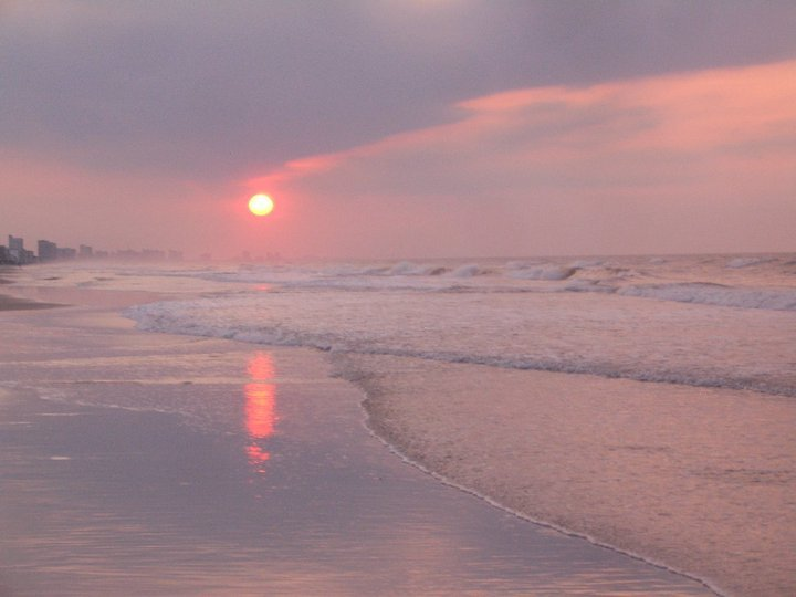 Early morning on the beach.