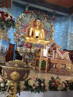 The statue of the Lord Gautam Budha