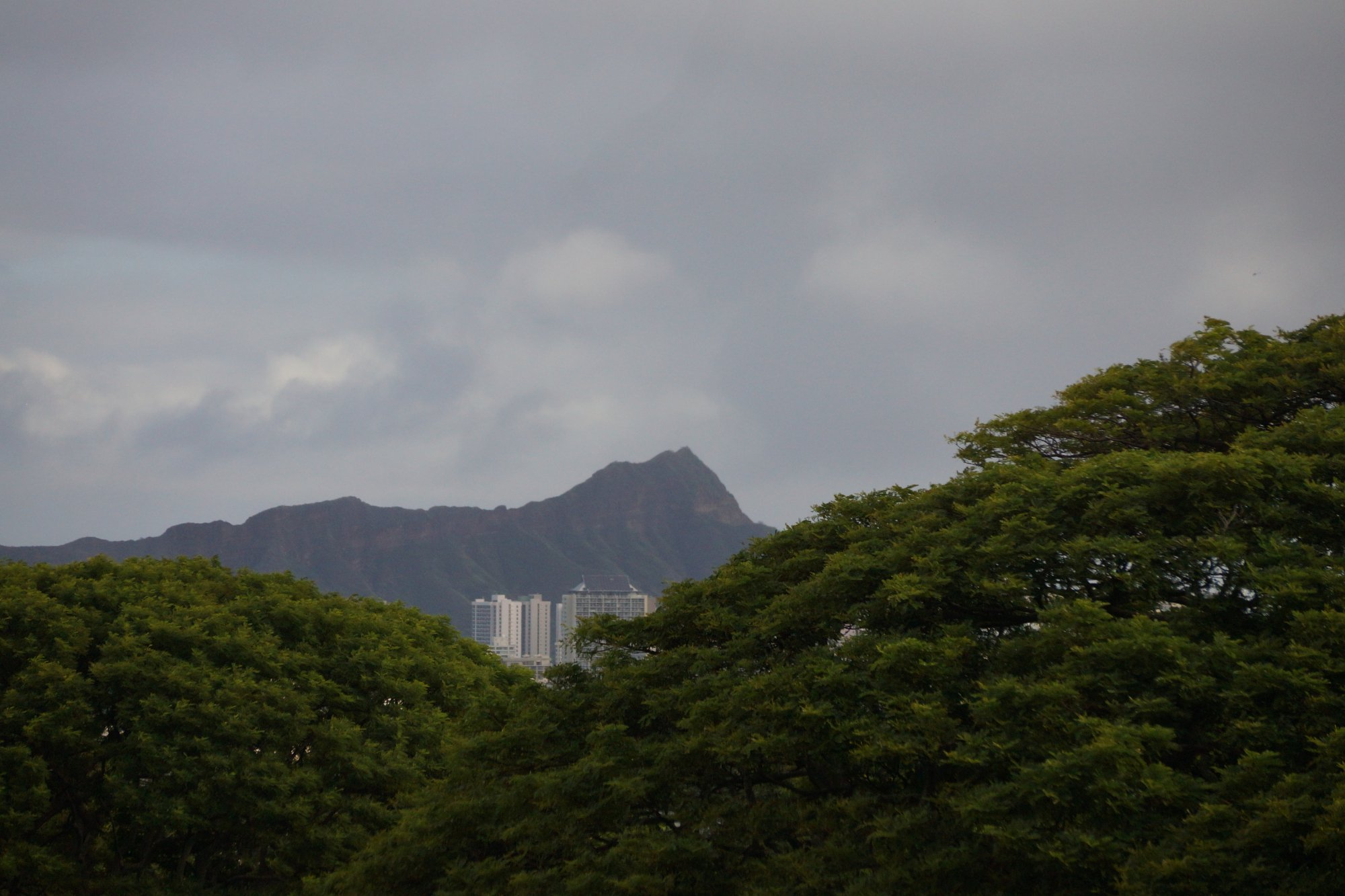 Diamond Head from a long ways away.