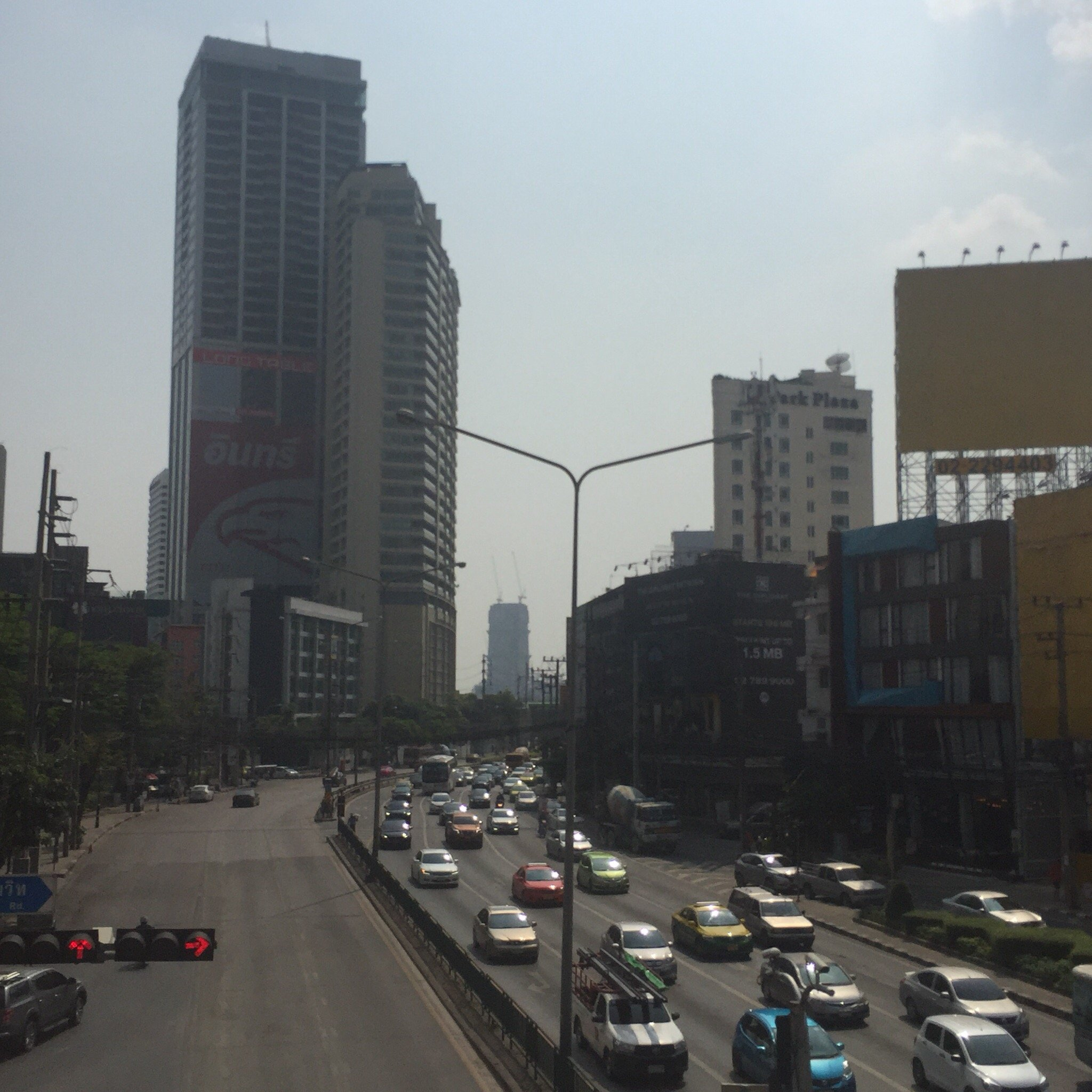 View of asoke area from overhead bridge