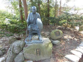 Matsuo Basho and Sora Statue