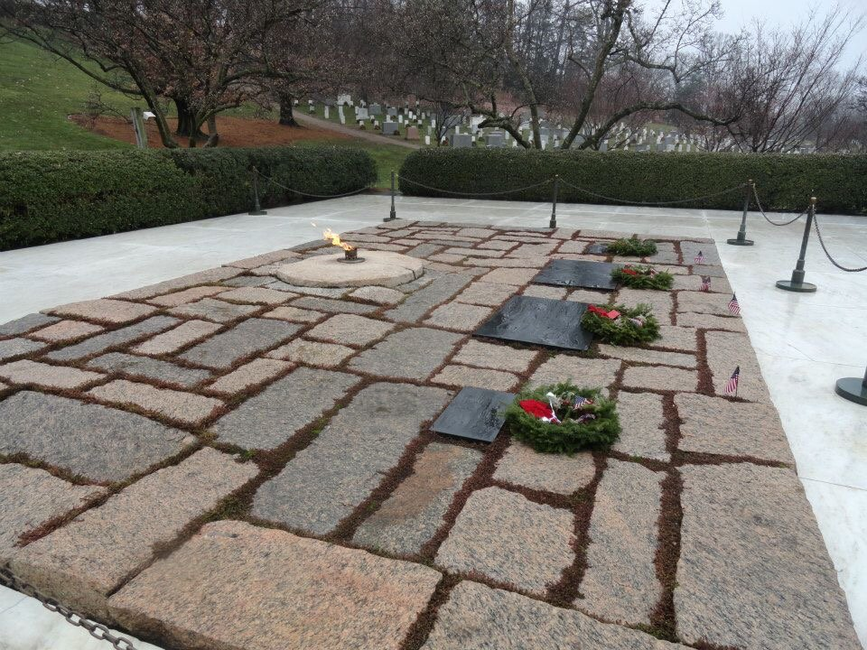Kennedy's grave site