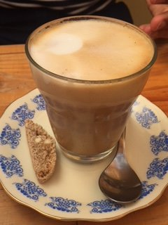 Latte with Biscotti