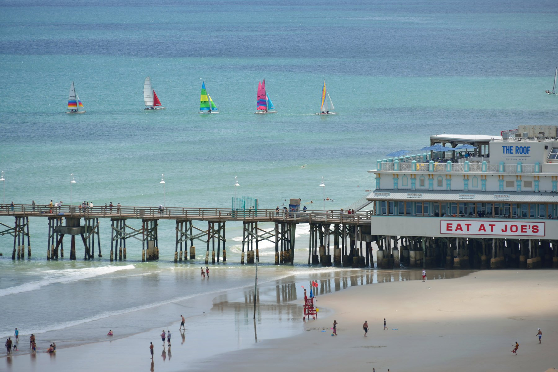 Daytona Beach on Florida's East Coast is a popular spot for large variety of water activities