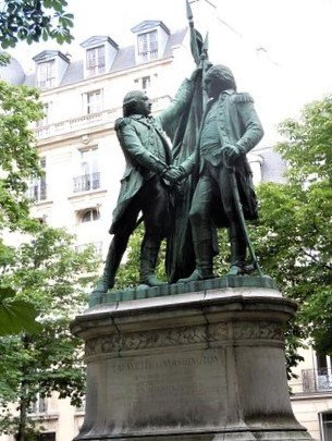 Le monument a Washington et La Fayette