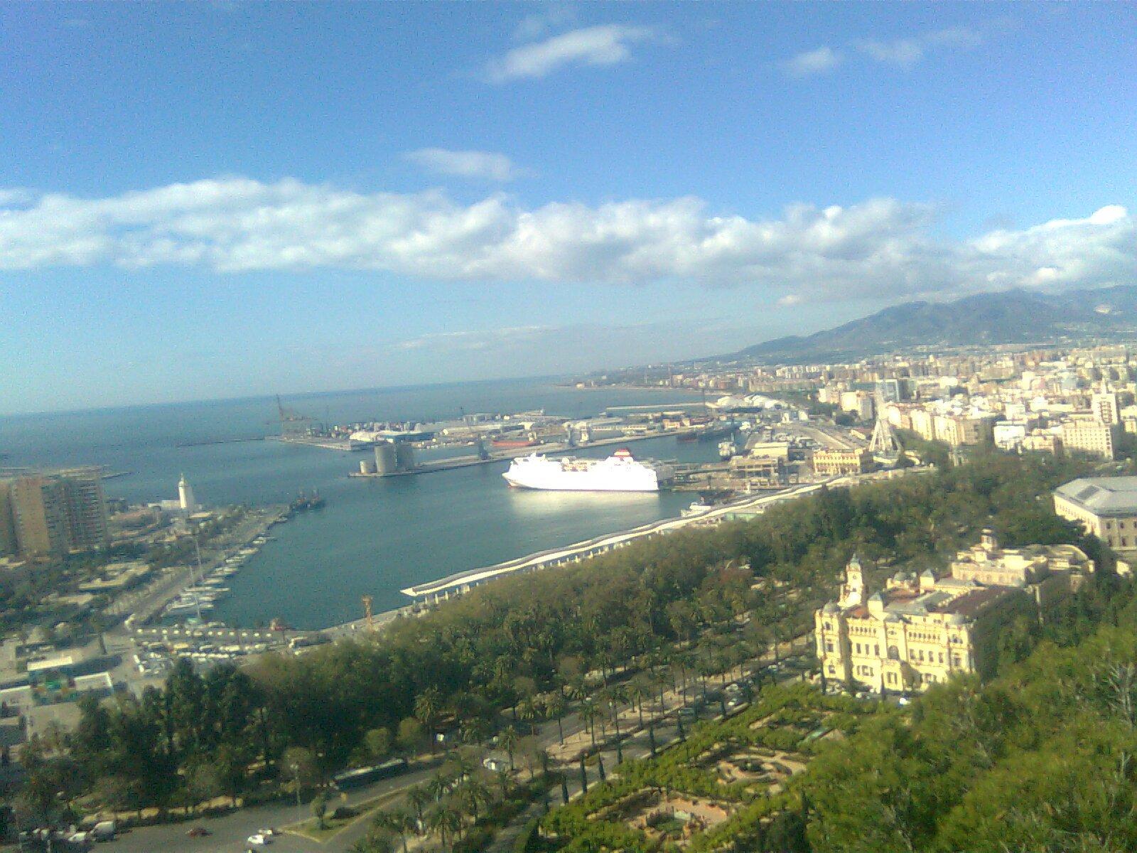Malaga: Porto, vista da collina Gibralfaro