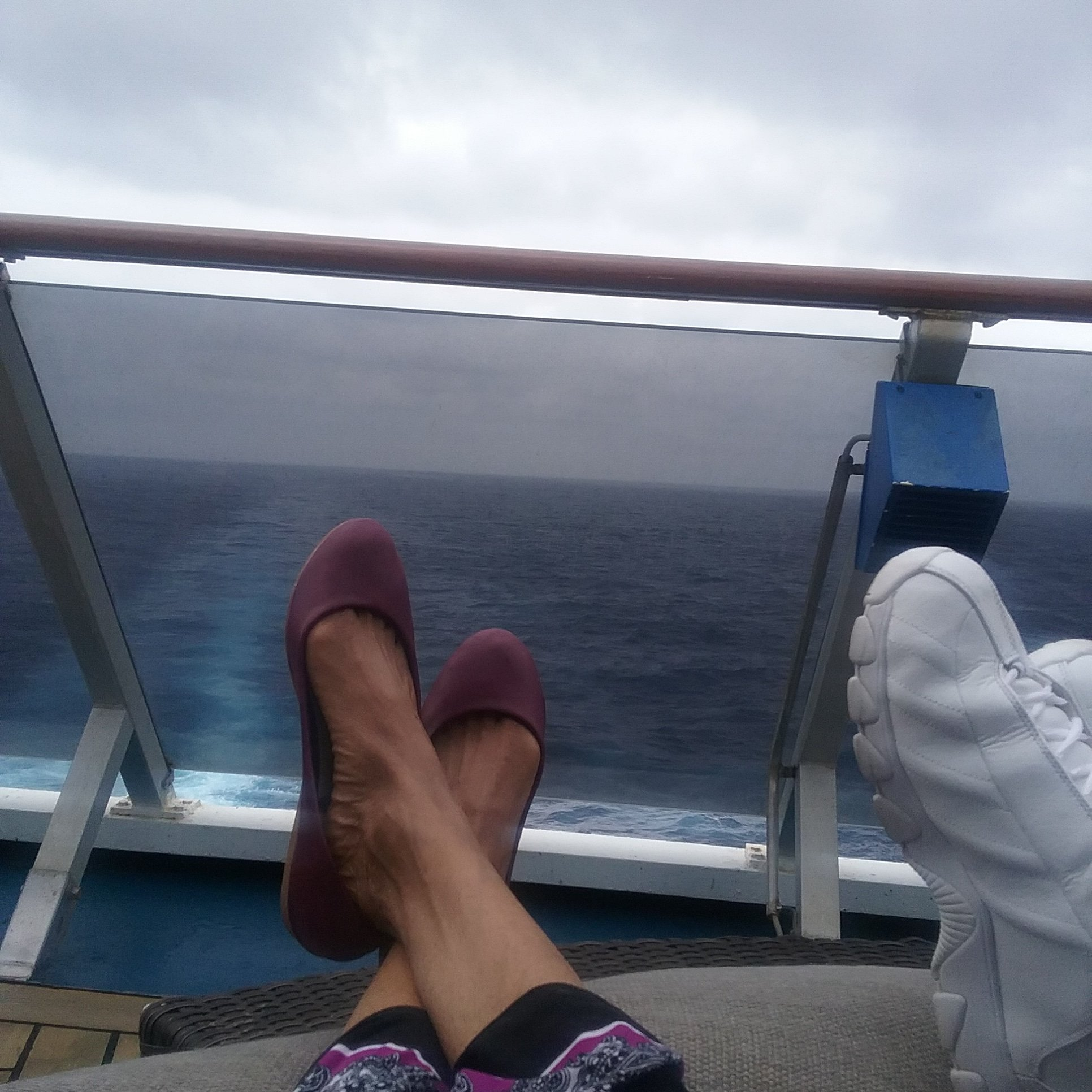 Relaxing on Adult deck..sailing from Freeport Bahamas May 2018