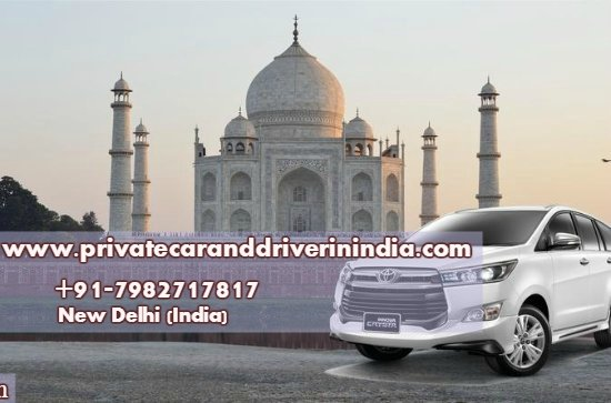 Coche privado y conductor en la India