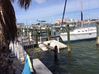 Marina in Clearwater Beach, FL on the Intercoastal Waterway
