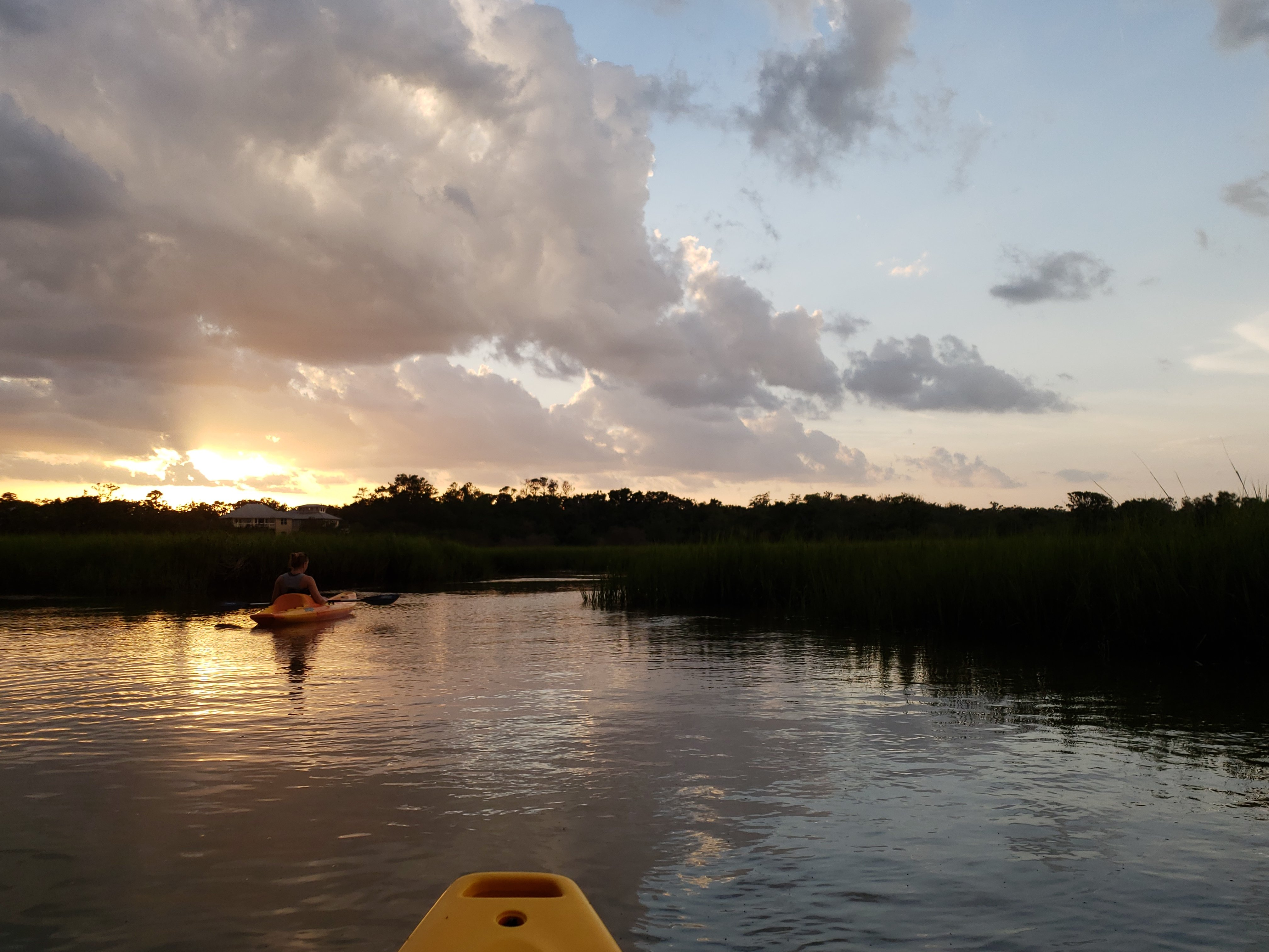 A sunset ecotour in a kayak on Village Creek, St. Simons Island