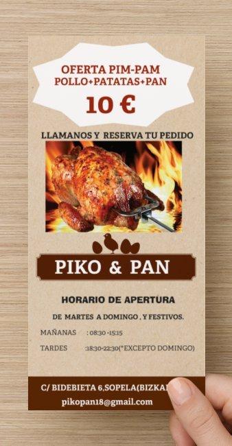 pollo+patatas+pan  todo por 10€