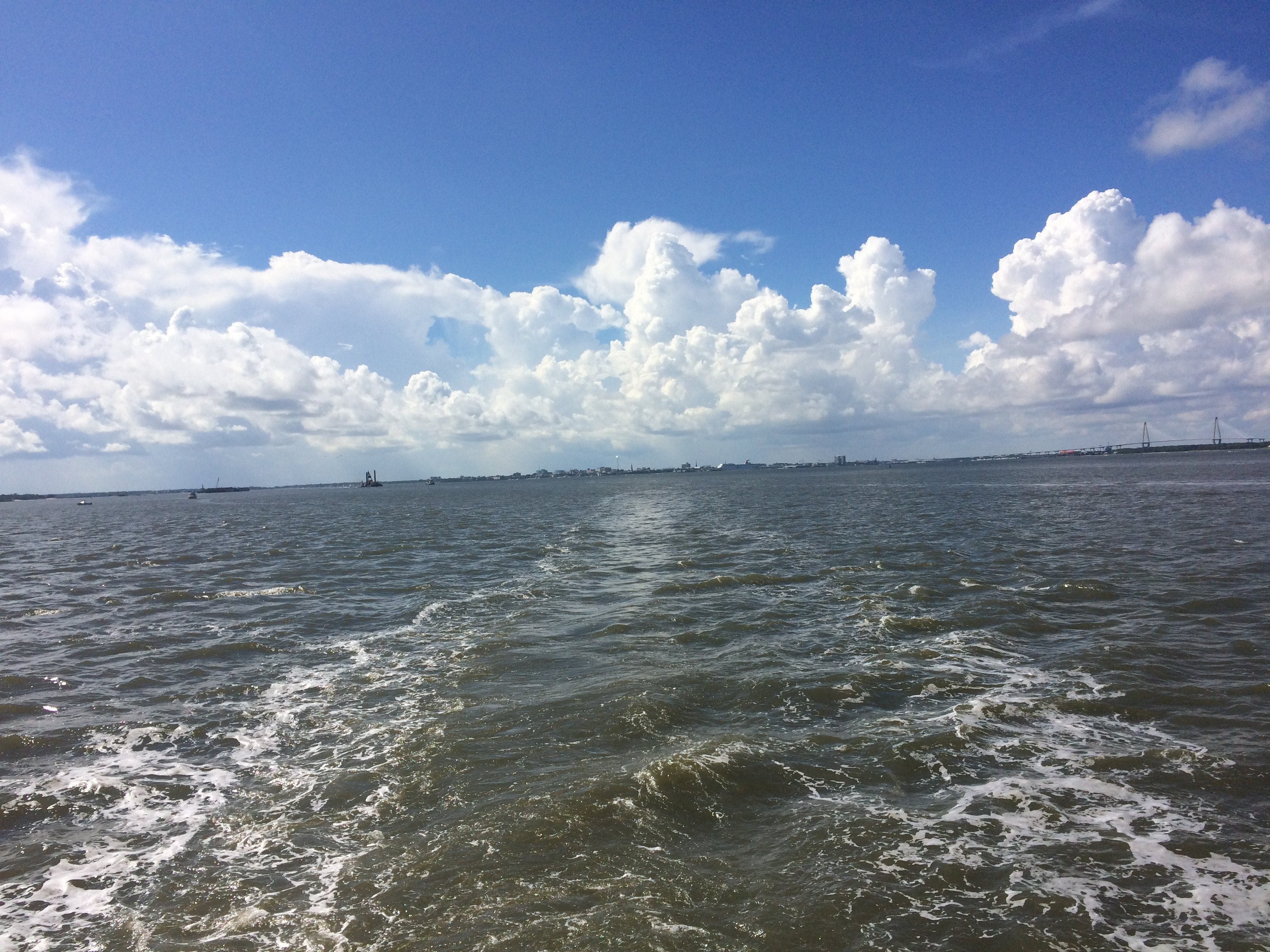 Beautiful Sky while on a Tour of the Charleston Harbor