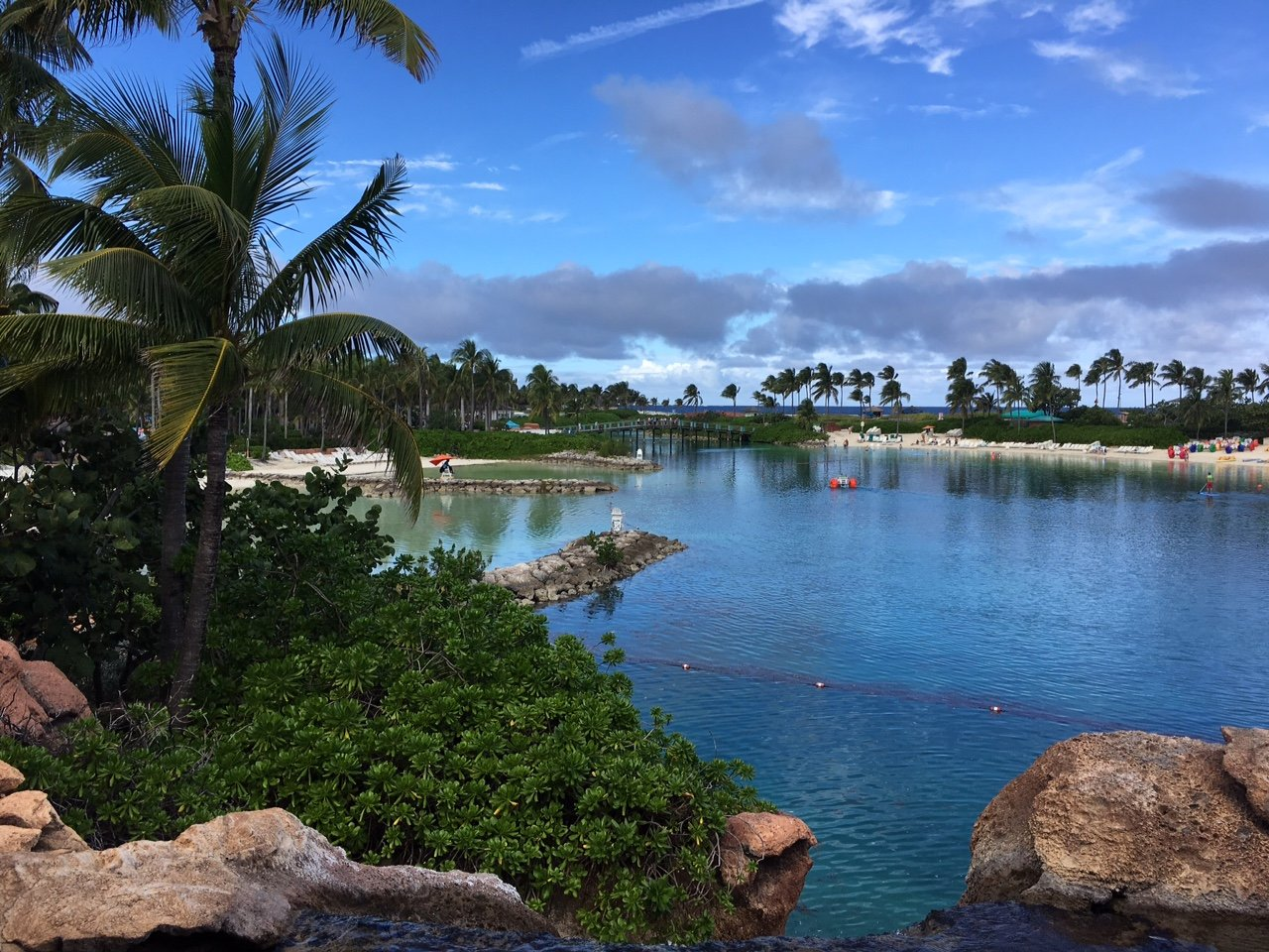 Atlantis Hotel looks out over this beautiful lagoon, which is right on the property!