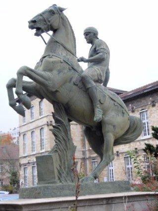 Statue Gladiateur à Cheval