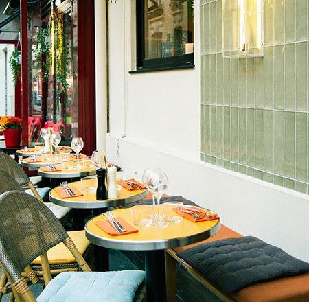 Déjeuner en terrasse... Chauffée !