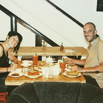 Happy guests and the breakfast we serve