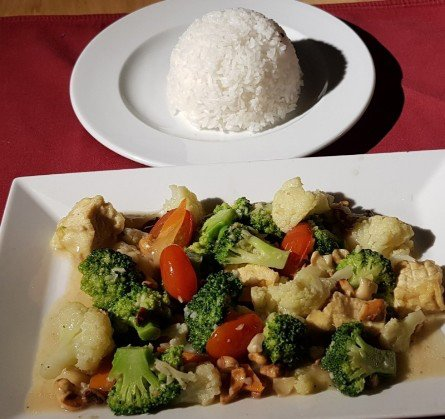 Mix vegetable with rice