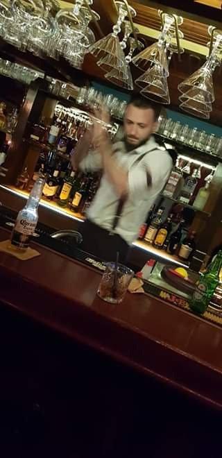 Preparing the cocktails