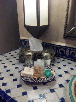 Amenities baño habitación Imanol Arias