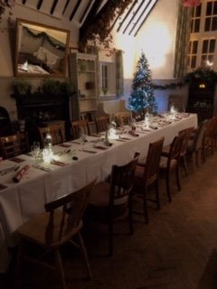 Christmas dining in our hall