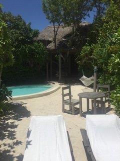 Our villa's pool/lounge area
