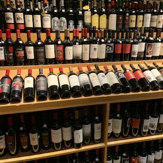 partial wine section