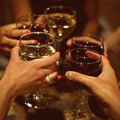 A glass of wine to celebrate together.. a nice platter or anything from our menu. cheers
