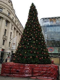 Xmas tree on Vörösmarty Sqaure