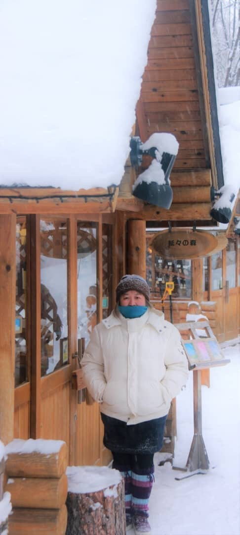 Taken at Furano ski resort till up on the ski mountain by cable car.