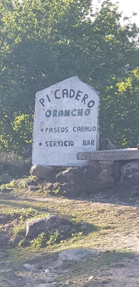 Cartel que nos indica la llegada al propio Picadero o Rancho.