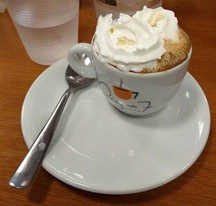 Café expresso com chantili