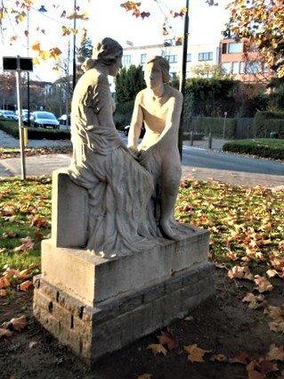 """Sculpture """"Les fiançailles"""""""
