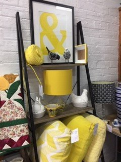 Homewares - preloved and new in a variety of colours.