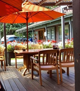Outside seating.