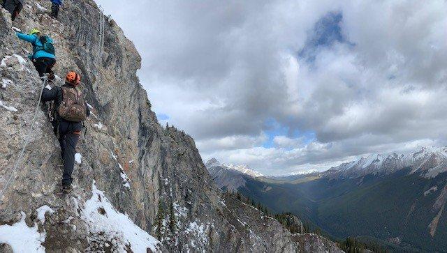 vertical part of the climb