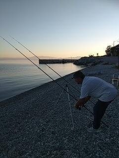 fishing on the beach, the little port in  walking distance