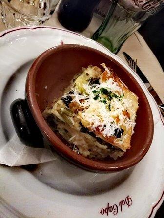 Lasagnette con broccoli, asiago e salsiccia