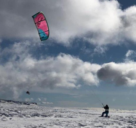 Best snow kiting ever!