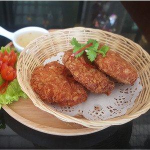 Shrimp Cakes deep fried shrimp cakes with sweet plum sauce