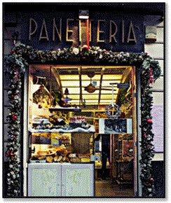 vetrina Panetteria Mercato, Brera Milano.